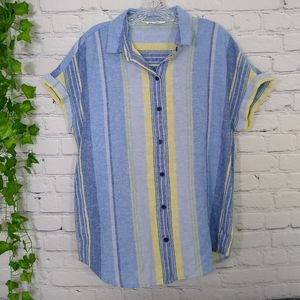 BeachLunchLounge women's top linen/cotton small